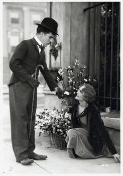 "Scene from ""City Lights""."