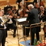 Stefan Dohr, principal horn of the Berlin Philharmonic, Neeme Järvi and the Estonian National Symphony Orchestra, 19 December 2012, Estonia Concert Hall. In programme Mozart's Horn Concertos No. 3 and No. 4.
