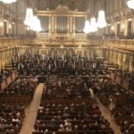 Neeme Järvi and the Estonian National Symphony Orchestra (ERSO) on the stage of Vienna Musikverein, 20 September 2019.
